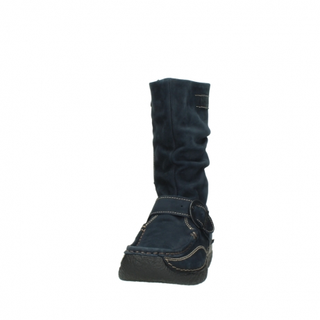 wolky mid calf boots 06267 roll jacky 50800 blue oiled leather_20