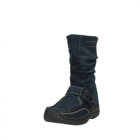 wolky mid calf boots 06267 roll jacky 50800 blue oiled leather_21
