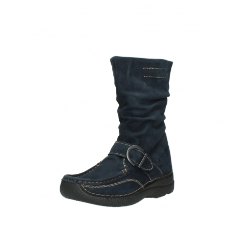 wolky mid calf boots 06267 roll jacky 50800 blue oiled leather_22