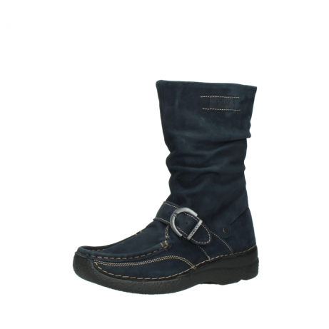 wolky mid calf boots 06267 roll jacky 50800 blue oiled leather_23