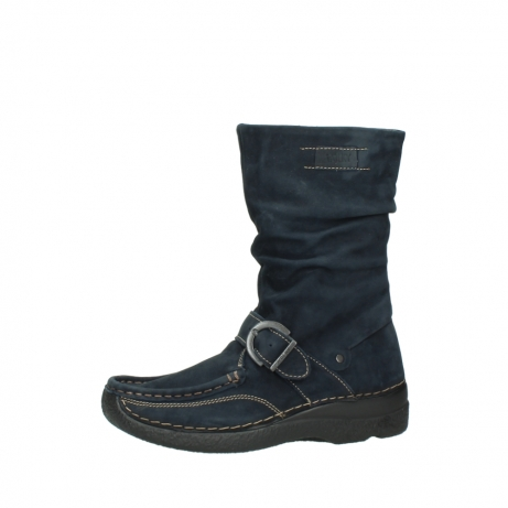 wolky mid calf boots 06267 roll jacky 50800 blue oiled leather_24