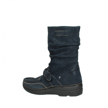 wolky mid calf boots 06267 roll jacky 50800 blue oiled leather_3