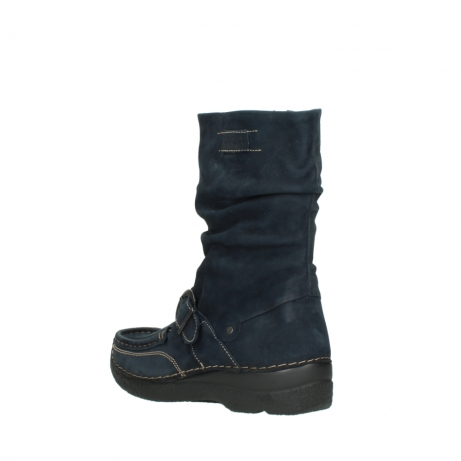 wolky mid calf boots 06267 roll jacky 50800 blue oiled leather_4