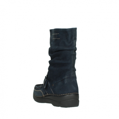 wolky mid calf boots 06267 roll jacky 50800 blue oiled leather_5