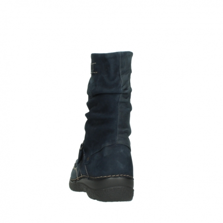 wolky mid calf boots 06267 roll jacky 50800 blue oiled leather_6