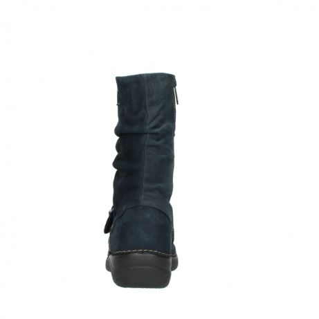 wolky mid calf boots 06267 roll jacky 50800 blue oiled leather_7