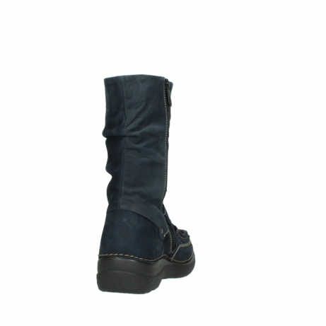 wolky mid calf boots 06267 roll jacky 50800 blue oiled leather_8