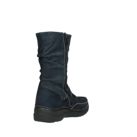 wolky mid calf boots 06267 roll jacky 50800 blue oiled leather_9