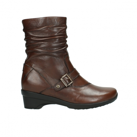 wolky mid calf boots 07655 florida cw 20430 cognac leather cold winter warm lining