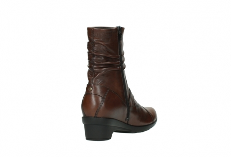wolky mid calf boots 07655 florida cw 20430 cognac leather cold winter warm lining_10