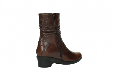 wolky mid calf boots 07655 florida cw 20430 cognac leather cold winter warm lining_11