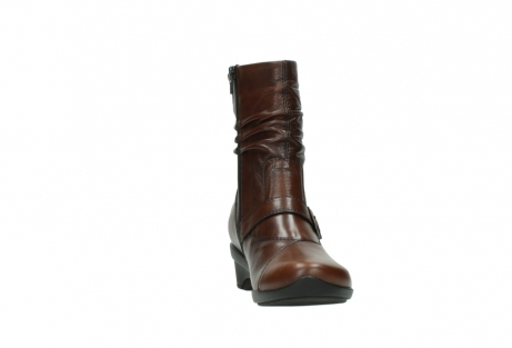 wolky mid calf boots 07655 florida cw 20430 cognac leather cold winter warm lining_19