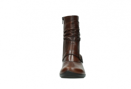 wolky mid calf boots 07655 florida cw 20430 cognac leather cold winter warm lining_20