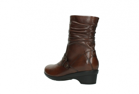 wolky mid calf boots 07655 florida cw 20430 cognac leather cold winter warm lining_5