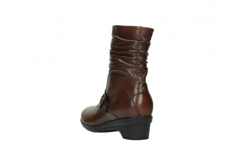 wolky mid calf boots 07655 florida cw 20430 cognac leather cold winter warm lining_6
