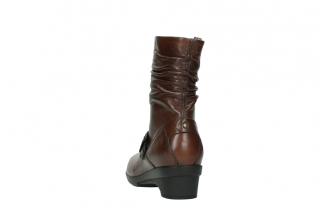 wolky mid calf boots 07655 florida cw 20430 cognac leather cold winter warm lining_7