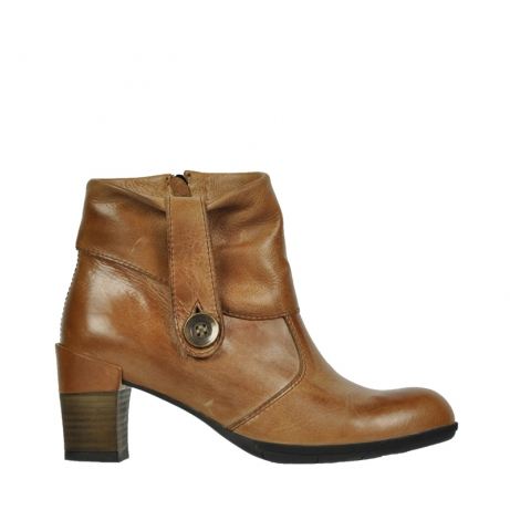 wolky mid calf boots 07740 shields 30430 cognac leather