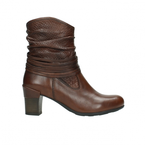 wolky mid calf boots 07741 mendez 20430 cognac leather