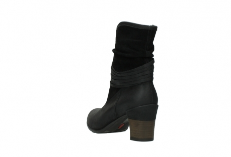 wolky mid calf boots 07741 mendez 40000 black suede_5