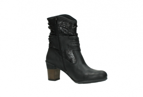 wolky mid calf boots 07741 mendez 90000 black craquele leather_15