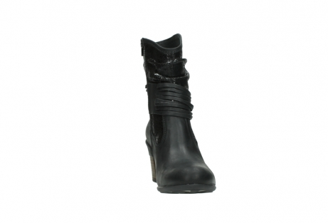 wolky mid calf boots 07741 mendez 90000 black craquele leather_18