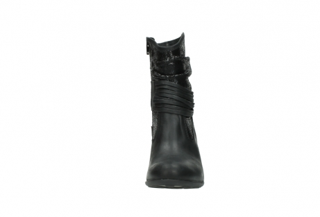 wolky mid calf boots 07741 mendez 90000 black craquele leather_19