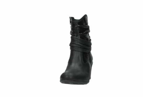 wolky mid calf boots 07741 mendez 90000 black craquele leather_20