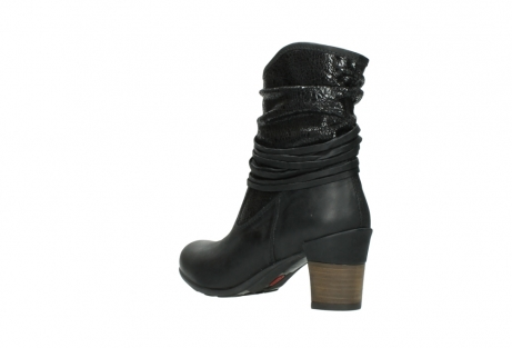 wolky mid calf boots 07741 mendez 90000 black craquele leather_4