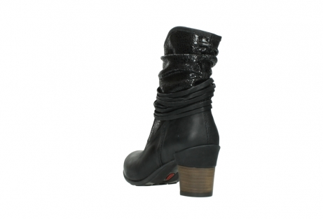 wolky mid calf boots 07741 mendez 90000 black craquele leather_5