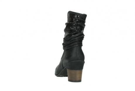 wolky mid calf boots 07741 mendez 90000 black craquele leather_6