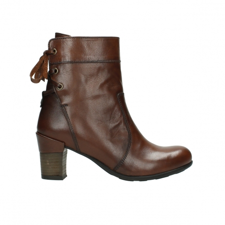 wolky mid calf boots 07745 vela 20430 cognac leather