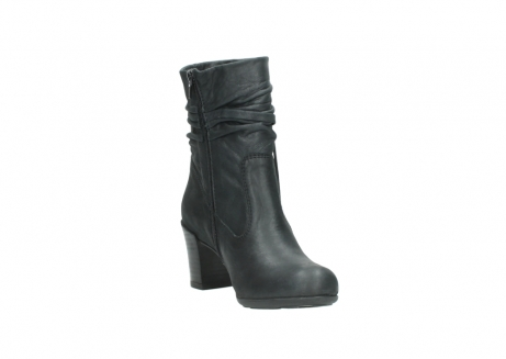 wolky mid calf boots 07747 daria 10210 mottled metallic anthracite leather_17