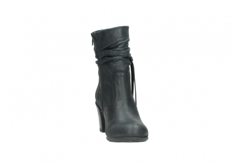 wolky mid calf boots 07747 daria 10210 mottled metallic anthracite leather_18