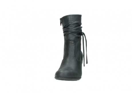 wolky mid calf boots 07747 daria 10210 mottled metallic anthracite leather_20