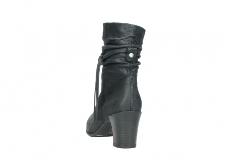 wolky mid calf boots 07747 daria 10210 mottled metallic anthracite leather_6
