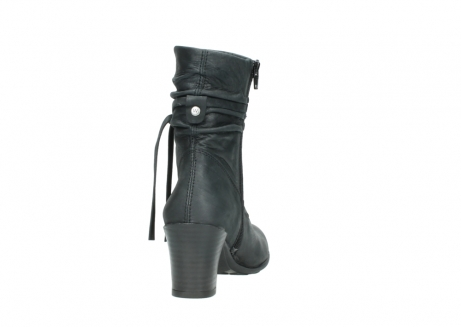 wolky mid calf boots 07747 daria 10210 mottled metallic anthracite leather_8