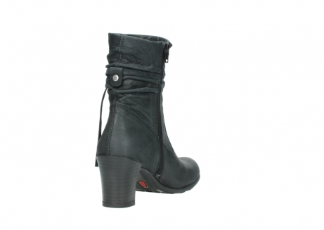 wolky mid calf boots 07747 daria 10210 mottled metallic anthracite leather_9