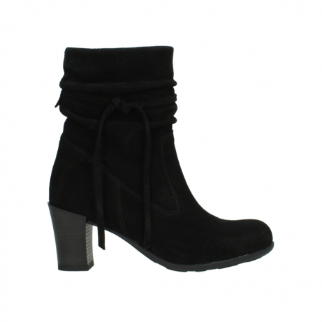 wolky mid calf boots 07747 daria 40000 black oiled suede