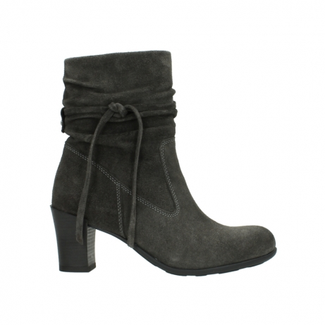 wolky mid calf boots 07747 daria 40210 anthracite oiled suede