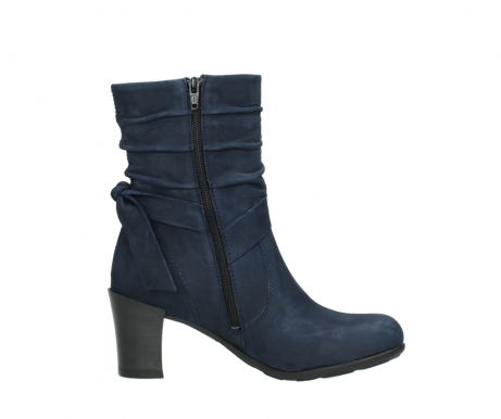 wolky mid calf boots 07750 cara 13800 blue nubuckleather_13