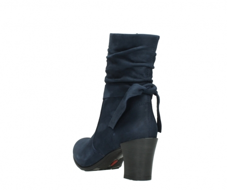 wolky mid calf boots 07750 cara 13800 blue nubuckleather_5