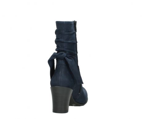 wolky mid calf boots 07750 cara 13800 blue nubuckleather_8