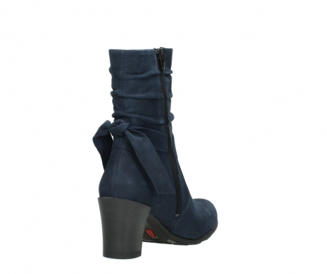 wolky mid calf boots 07750 cara 13800 blue nubuckleather_9