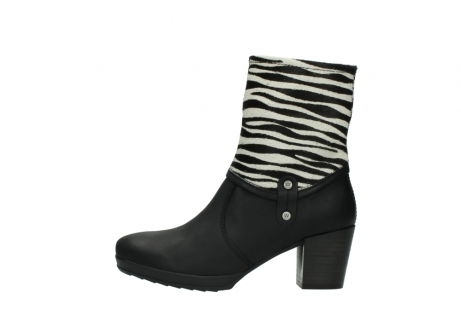 wolky mid calf boots 08030 beacon 90000 black zebraprint leather_1