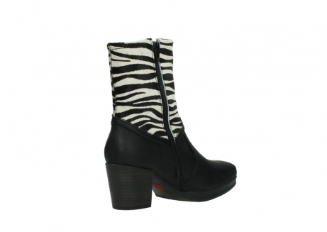 wolky mid calf boots 08030 beacon 90000 black zebraprint leather_10