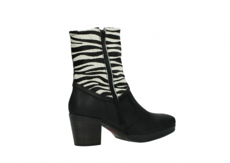 wolky mid calf boots 08030 beacon 90000 black zebraprint leather_11