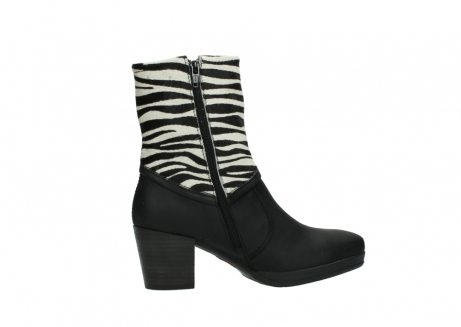 wolky mid calf boots 08030 beacon 90000 black zebraprint leather_12