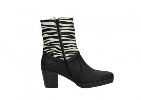 wolky mid calf boots 08030 beacon 90000 black zebraprint leather_13