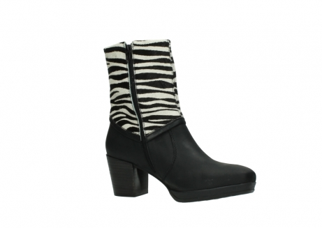 wolky mid calf boots 08030 beacon 90000 black zebraprint leather_15