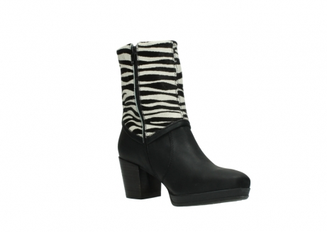 wolky mid calf boots 08030 beacon 90000 black zebraprint leather_16